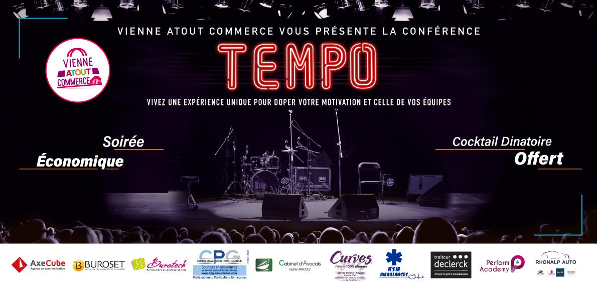 Vienne Atout Commerce vous présente la conférence Tempo : vivez une expérience unique pour doper votre motivation et celle de vos équipes
